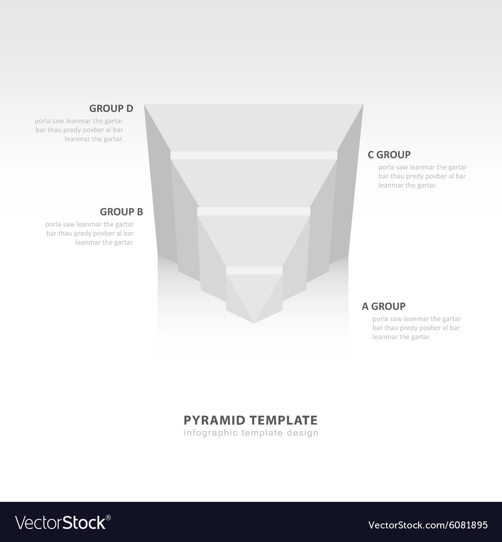 Design pyramid infographic template white color vector