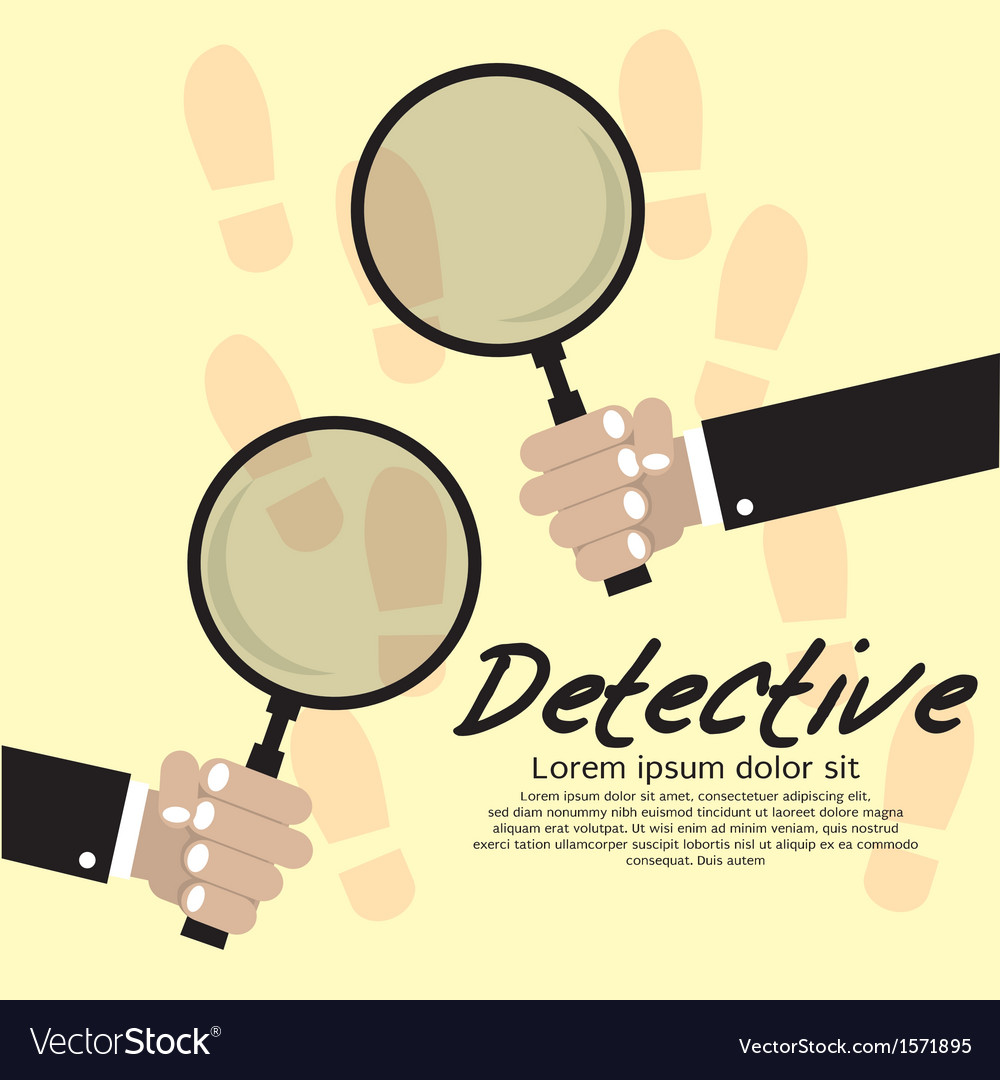 Detective concept eps10 vector
