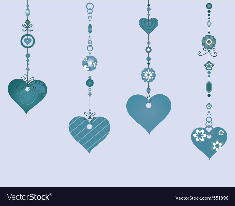 Of decorative wind chimes with vector