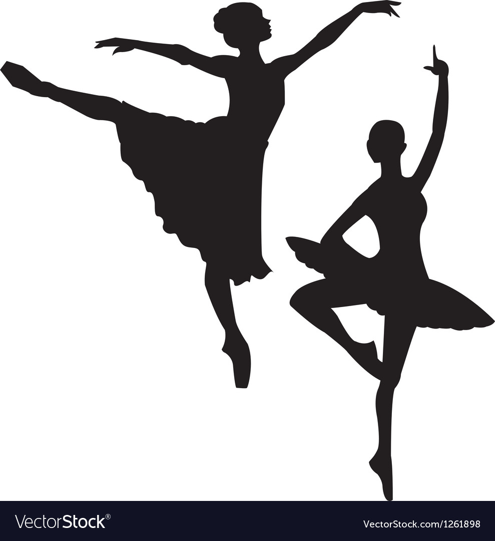 Ballet sihlouettes vector