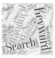 Keyword Research That Works Word Cloud Concept vector image