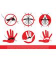mosquito icon vector image
