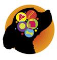 Dog Brain vector image vector image