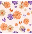 Pink grunge seamless vintage spotty pattern vector image