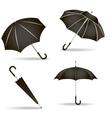 Black umbrellas set vector image