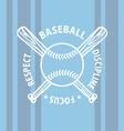 baseball focus vector image