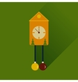Flat web icon with long shadow Christmas clock vector image