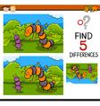 preschool task of differences vector image
