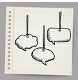 Blank doodle speech bubbles vector image