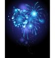 Blue firework vector image