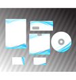 Corporate style idea - blue abstract wave vector image