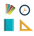 Graphic design work vector image