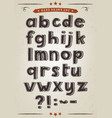 hand drawn alphabet set vector image
