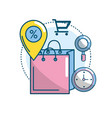marketing ecommerce and technology business vector image