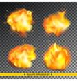 Realistic explosion set vector image