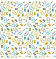 seamless pattern with paper clips and thumbtacks vector image