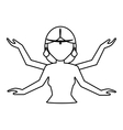 Shiva indian god vector image