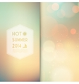 Sunny shine background with summer text vector image