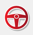 car driver sign new year reddish icon vector image