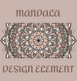 vintage card with design element pattern vector image