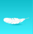White feather falling vector image vector image