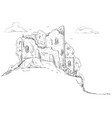 - castle landscape vector image vector image