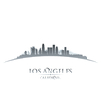 Los Angeles California city skyline silhouette vector image