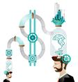 Think green human mind vector image vector image