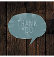 thank you card design hardwood vector image vector image