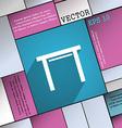 stool seat icon symbol Flat modern web design with vector image