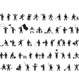 Common pictogram people activities vector image