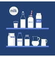 Set of milk vector image