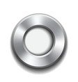 Donut button template with metal texture vector image