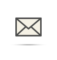 Envelope contour symbol with shadow mail icon vector image
