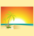 exotic beach postcard vector image