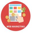 Flat design modern concept of web marketing vector image