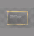 glass modern banner set with shiny golden vector image