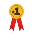 number one ribbon award vector image