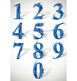 Smash numbers vector image