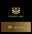 square level data technology gold logo vector image