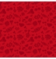 Sweet Red Valentine Pattern vector image