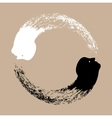 Taichi yin and yang vector image