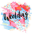 wedding hand-drawn labels for greeting cards vector image