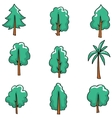Doodle set of tree art vector image