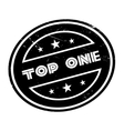 Top One rubber stamp vector image