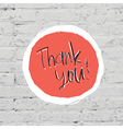 thank you on bricks vector image vector image