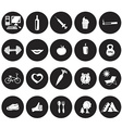 white icons in the circles on health vector image