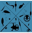 fishing equipment set vector image