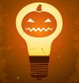 Halloween bulb vector image