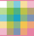 baby color pixel plaid seamless pattern vector image